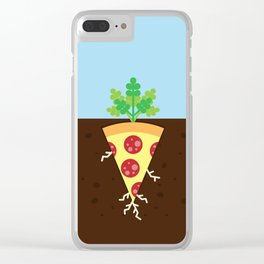 Pizza is a Vegetable Clear iPhone Case
