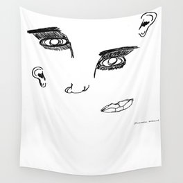 Disproportionate Face Wall Tapestry