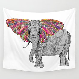 Bella The Happy Butterphant Wall Tapestry