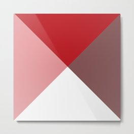 Geometric Red Metal Print