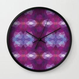 Kaleidoscopic design in soft purple colors Wall Clock