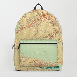 Caracas Map Retro Backpack