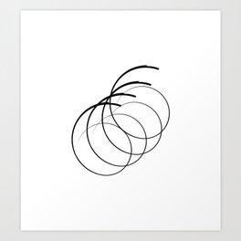 """ Eclipse Collection"" - Minimal Number Six Print Art Print"