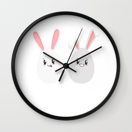 Egg Bunny Easter Hunt Festival Holiday Gift Wall Clock