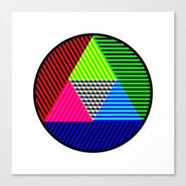 Tricolour Triangle Testcard Canvas Print
