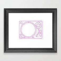 Neon Turntable 2 - 3D Art Framed Art Print