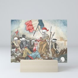 Liberty leading the people - Delacroix - Skeleton version Mini Art Print