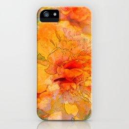 Golden Marigold Watercolor iPhone Case