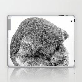 koala holding little koala b&w Laptop & iPad Skin