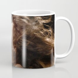 7504-AB Beautiful Transcendent Young Woman with Fire Sign Kanji Tattoo on Bare Breast Coffee Mug