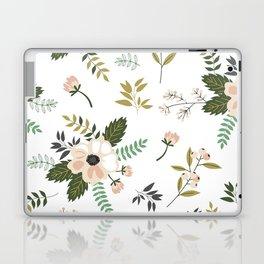 Winter floral - snowy blush petals Laptop & iPad Skin