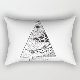 Doodle Christmas Tree Rectangular Pillow