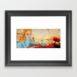 I've met a Blue Bird today Framed Art Print