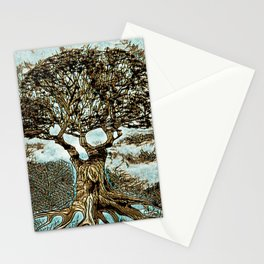 Brown Tree at Peace Stationery Cards