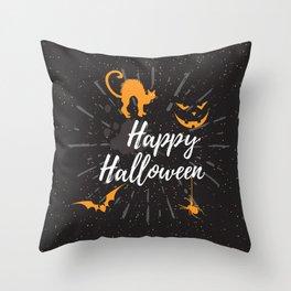 Halloween wishes Throw Pillow