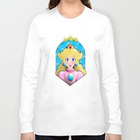 princess peach Long Sleeve T-shirts featuring Princess peach by Une Belle Pagaille