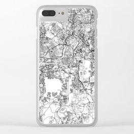 Kuala Lumpur White Map Clear iPhone Case