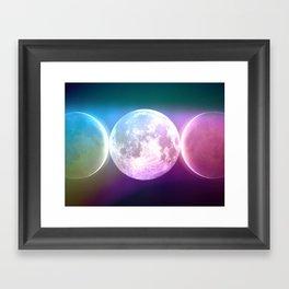 Moon Triple Goddess Rainbow Framed Art Print