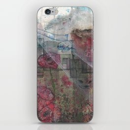 Bull in the Poppies iPhone Skin