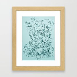 Elliott Chocolate Wormwood Framed Art Print