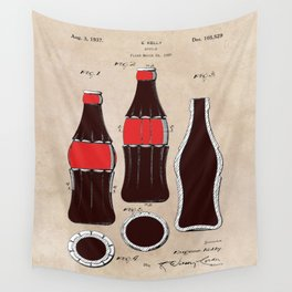 patent Bottle Wall Tapestry