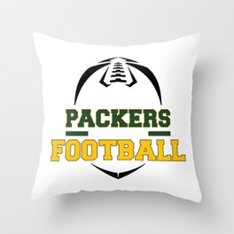 Football Packers Throw Pillow