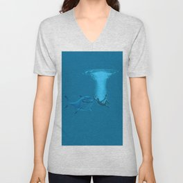 splashed and sharks Unisex V-Neck