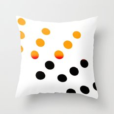 Black and Orange Dots Throw Pillow