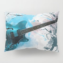Electric Blue Guitar Pillow Sham