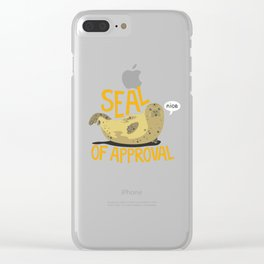 Seal Of Approval Clear iPhone Case
