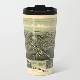 Aerial View of Woodsfield, Monroe County, Ohio (1899) Travel Mug