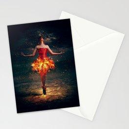Interesting Mystic Female Fantasy Ballerina Fire Flames Skirt Ultra HD Stationery Cards