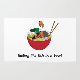 Fish in a bowl Rug