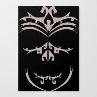 maori Canvas Prints featuring Maori skull by Soso Creation