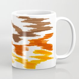 Bold Graphic Colorful Abstract Art Minimalist Tribal Pattern Mid Century Modern Coffee Mug