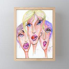 Les filles Framed Mini Art Print