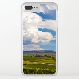 Stormy day in the vineyards of Brda, Slovenia Clear iPhone Case