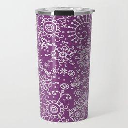 Graphic Ink Doodles (purple) Travel Mug