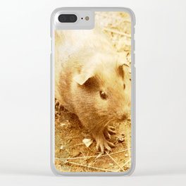 Vintage Animals - Guinea Pig Clear iPhone Case