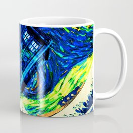 tardis starry night Coffee Mug