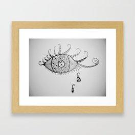 Cat in the Eye Framed Art Print