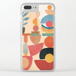 Modern Abstract Art 73 Clear iPhone Case