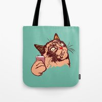 makeup Tote Bags featuring No Makeup by beart24