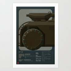 M577 Armored Personnel Carrier Tritych I/III Aliens APC Art Print