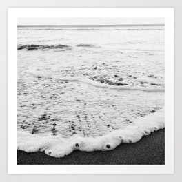 Rushing in - black white Art Print
