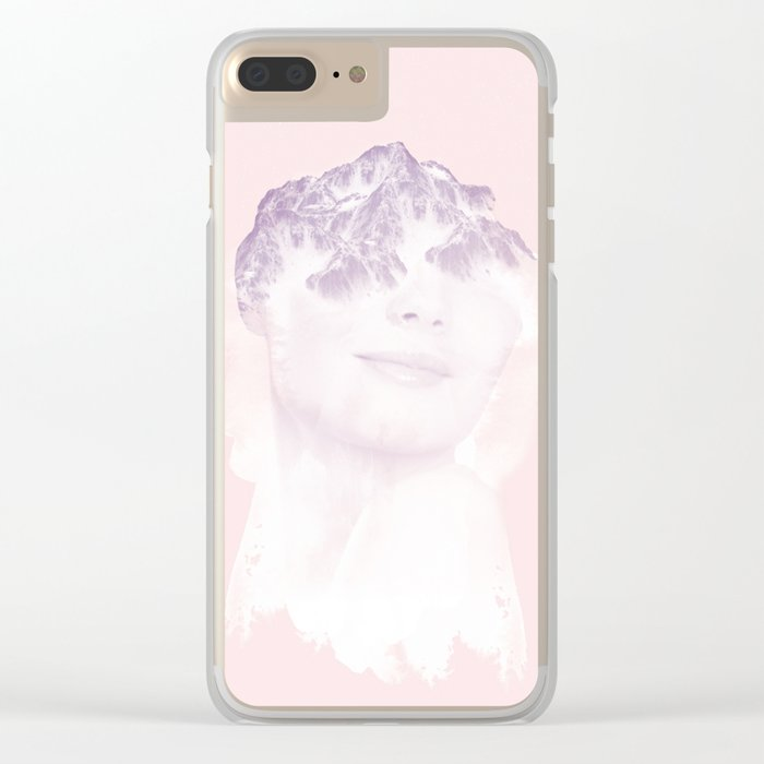 head in the mountains Clear iPhone Case