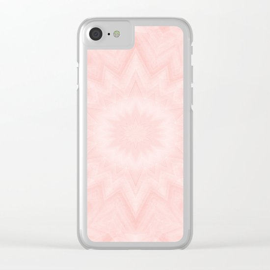 Pink starburst Clear iPhone Case
