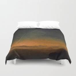 Smyth - The Great Comet of 1843 Sunset Magical Stars Duvet Cover