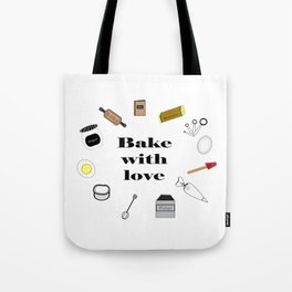 Bake with love Tote Bag