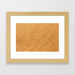 Bright hessian texture abstract Framed Art Print